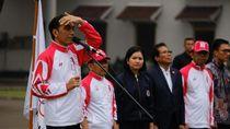 Di Bawah Rintik Hujan, Jokowi Lepas Kontingen SEA Games 2019