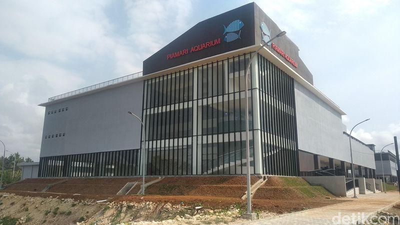 Pembangunan Pangandaran Integrated Aquarium and Marine Research Institute (PIAMARI) di kawasan Pelabuhan Ikan Cikidang Babakan Kabupaten Pangandaran sudah rampung. (Faizal Amiruddin/detikcom)
