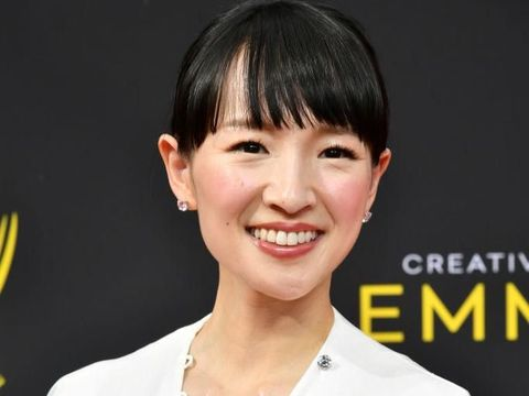 NEW YORK, NEW YORK - JANUARY 08: Author and series host Marie Kondo poses before taking part in Netflix's