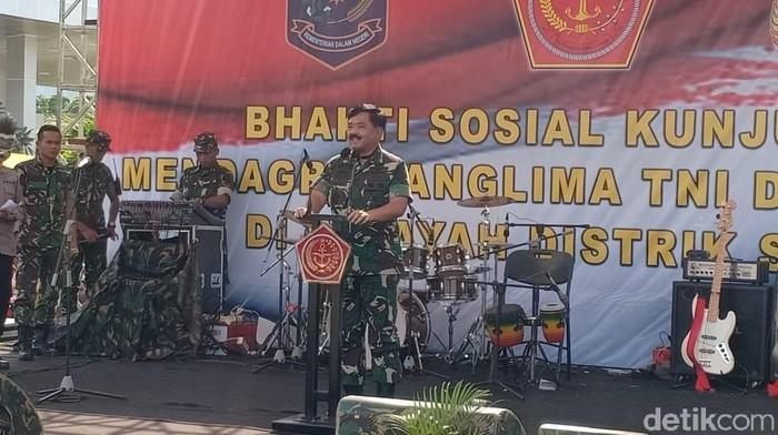 Foto: Panglima TNI Marsekal Hadi Tjahjanto (Rolando Fransiscus Sihombing/detikcom)
