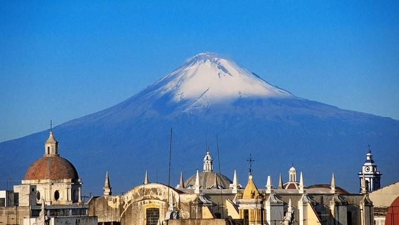 Lanskap Kota Puebla di Meksiko (Foto: CNN)