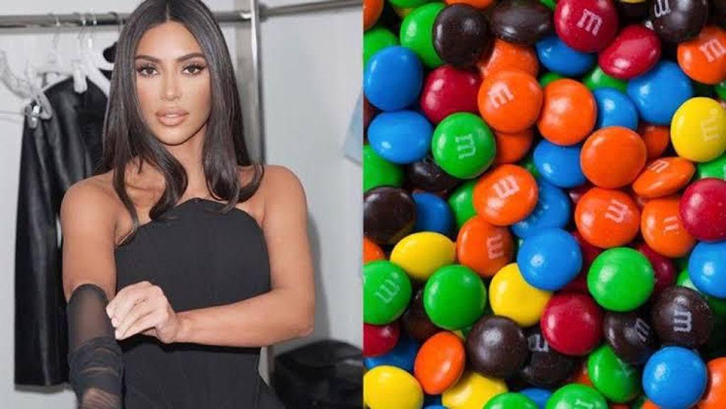 Trik ala Kim Kardashian Bikin Permen Cokelat M&Ms Jadi Lebih Enak