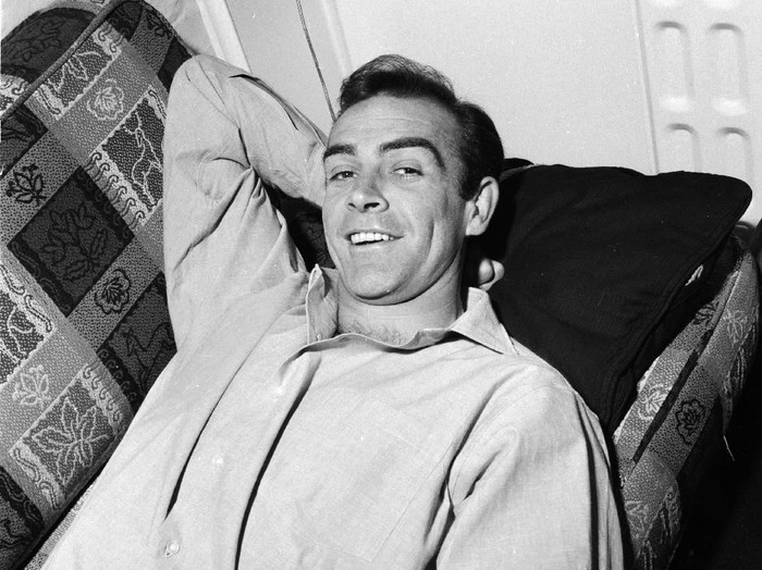 31st August 1962:  Scottish actor Sean Connery, the new face of superspy James Bond, relaxes in his basement flat in Londons NW8.  (Photo by Chris Ware/Keystone Features/Getty Images)