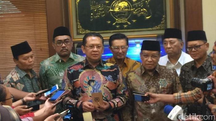 Foto: Pimpinan DPR sambangi PBNU. (Farih/detikcom)