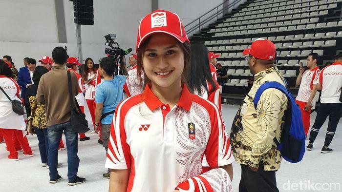 Ceyco Georgia Hutagalung, karateka putri di kumite 59 kg, di SEA Games 2019 (Mercy Raya/detikSport)