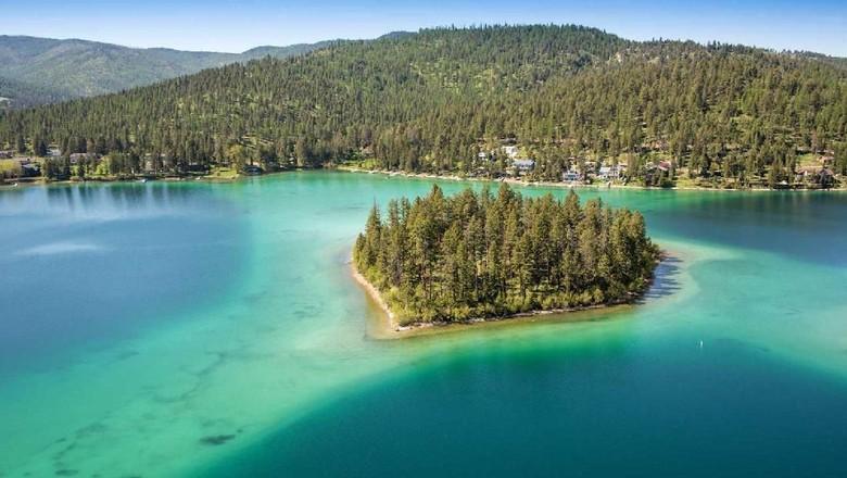 Foto: Pulau pribadi di Montana (Sothebys International Reality)