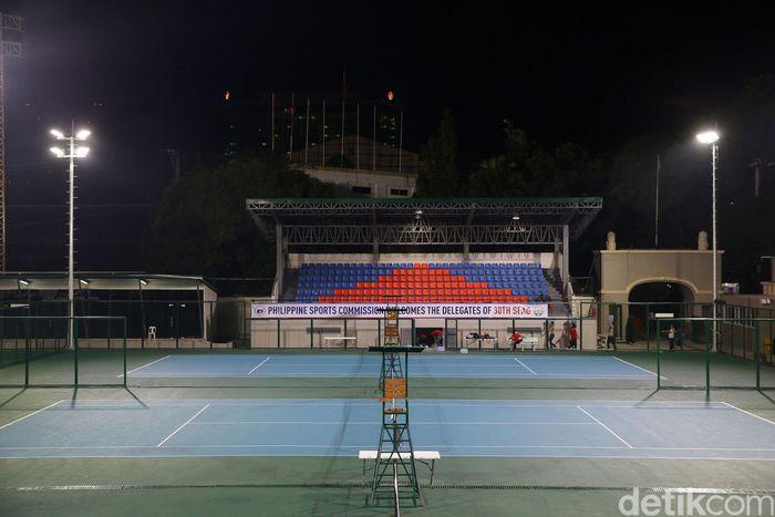 Lapangan untuk cabang olahraga tenis telah siap untuk digunakan dalam gelaran SEA Games 2019.