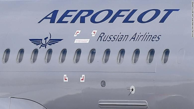 The Aeroflot flight had to make an emergency landing after its co-pilot was taken ill. (Pascal Pavani/AFP via Getty Images)