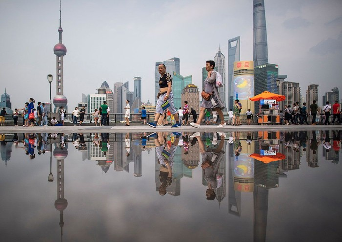 Salah satu sudut Shanghai. (Johannes Eisele/AFP)