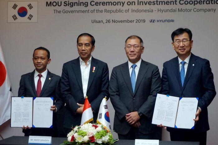 Kepala BKPM Bahlil Lahadalia menjaring investasi dengan Hyundai Group, Korea Selatan. Foto: dok. BKPM