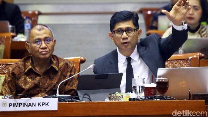 Foto:  Komisi III DPR RI menggelar rapat dengar pendapat (RDP) dengan Komisi Pemberantasan Korupsi (KPK). (Lamhot Aritonang-detikcom)