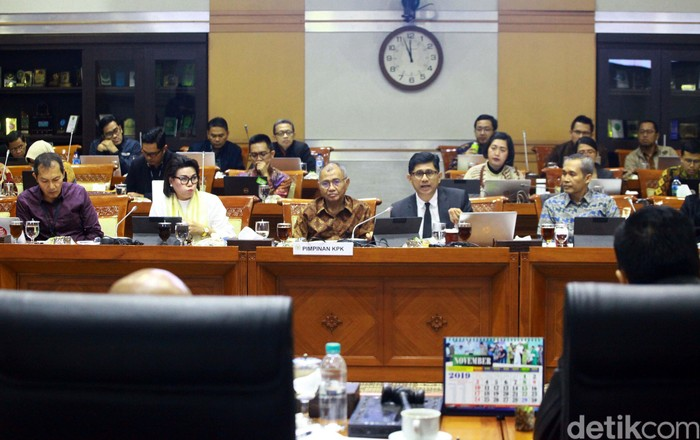 Rapat terakhir Agus Rahardjo Cs di Komisi III (Foto: Lamhot Aritonang-detikcom)