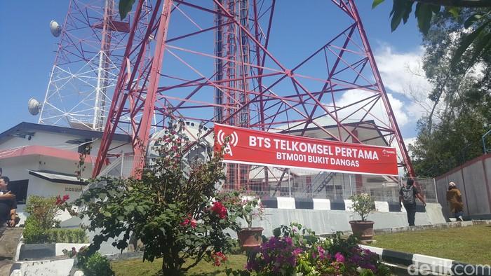 BTS pertama Telkomsel. Foto: Fitraya Ramadhani