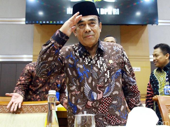 Menag Fachrul Razi (Lamhot Aritonang/detikcom)