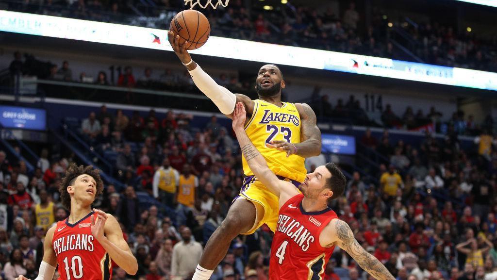 LeBron Torehkan Rekor 33.000 Poin di NBA, Lakers Tumbangkan Pelicans