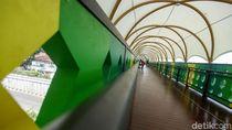 Melihat Wajah Baru JPO Pasar Minggu yang Hampir Rampung