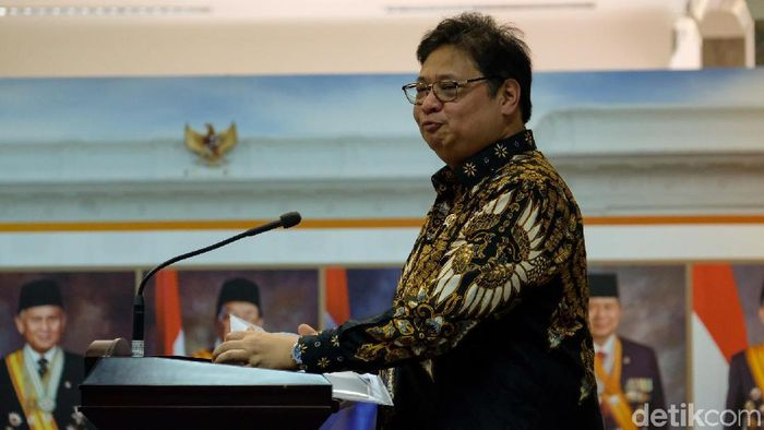 Foto: Menko Perekonomian Airlangga Hartarto (Dhika-detikcom)