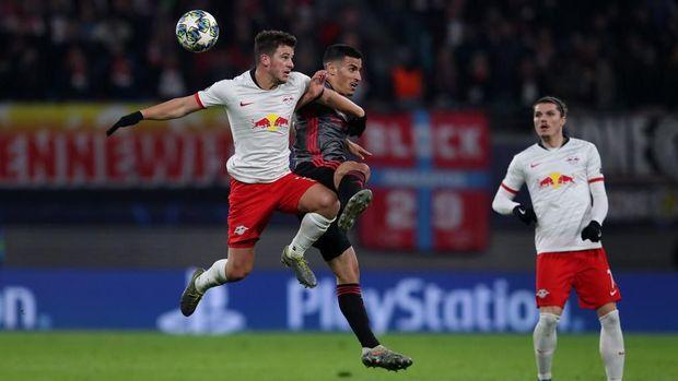 Tottenham kesulitan membobol gawang Leipzig. (