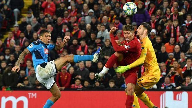 Napoli kalahkan Liverpool di Liga Champions.