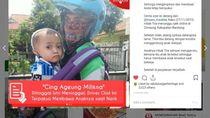 Istri Wafat, Driver Ojol di Bandung Kerja Sambil Gendong Anak