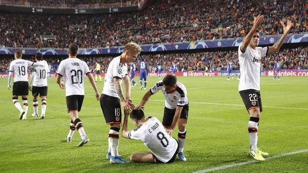 Valencia sempat memimpin lewat gol Carlos Soler.