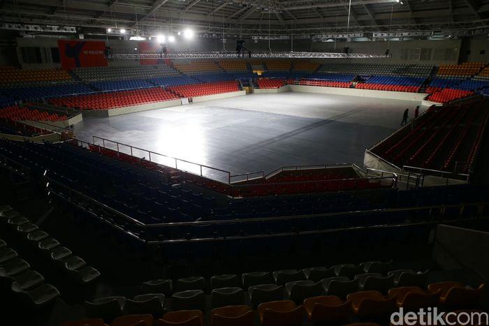 Begini kondisi venue angkat besi dan taekwondo di Rizal Memorial Complex, Filipina.
