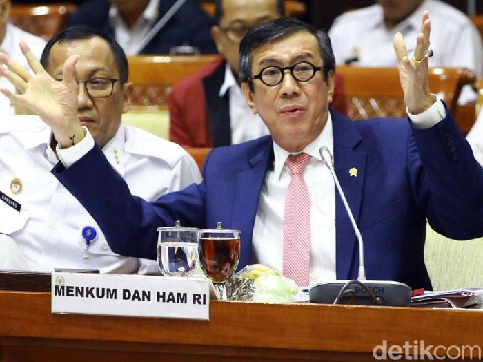 Menteri Hukum dan HAM (Menkum HAM) Yasonna Laoly (Lamhot Aritonang/detikcom)