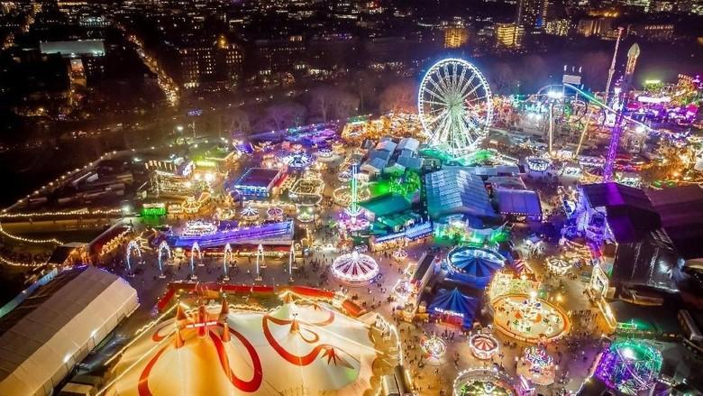 Pasar Winter Wonderland Hyde Park di London, Inggris (Agoda)