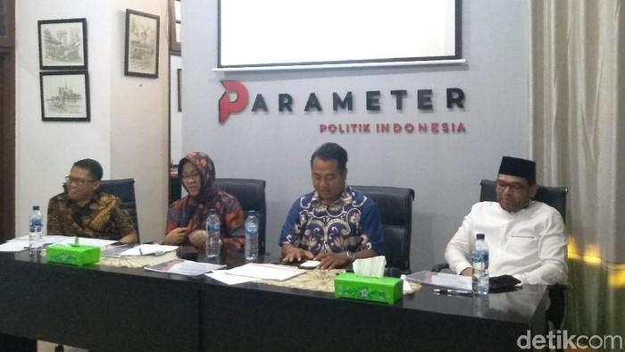 Diskusi survei Wajah Islam Politik Pasca-Pemilu 2019 yang digelar Suvei Lembaga Parameter Politik Indonesia (dok. detikcom)
