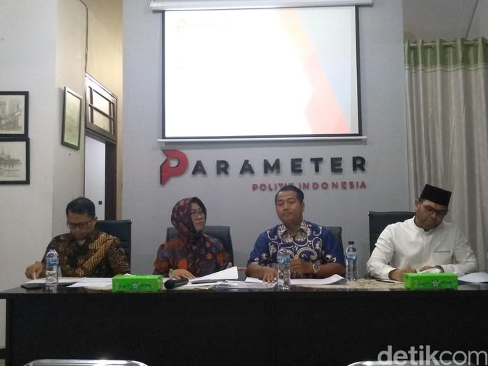 Foto: Direktur Eksekutif Parameter Politik Adi Prayitno (Azizah/detikcom)