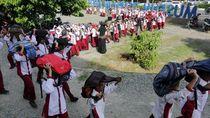Ribuan Siswa Sekolah di Aceh Ikuti Simulasi Evakuasi Bencana
