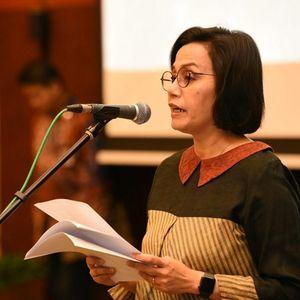 Momen Haru Sri Mulyani Lebaran Virtual Bareng Pegawai