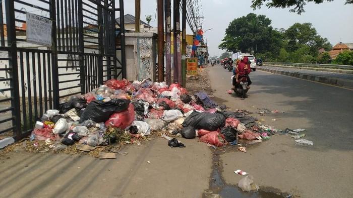 Foto: Sampah di tepi jalan Cibinong, Bogor (Sachril-detik)