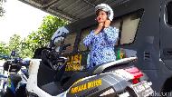 PNS Polres Brebes Ciptakan Ambulance Motor