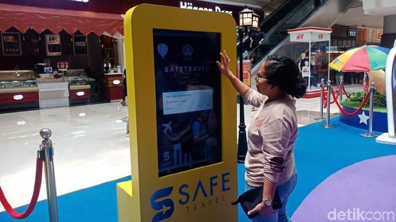 Ilustrasi aplikasi Safe Travel (Putu Intan/detikcom)