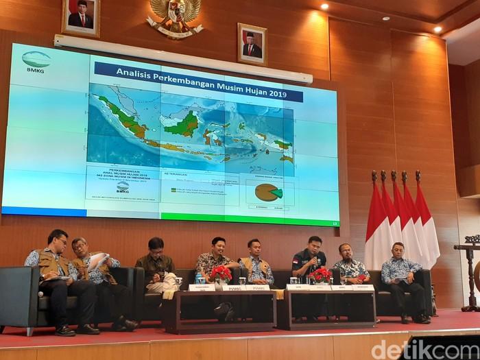 Foto: Konferensi Pers BMKG mengenai antisipasi musim hujan di DKI Jakarta (Yulida/detikcom)