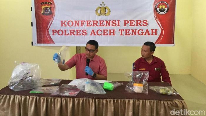 Foto: Kasat Reskrim Polres Aceh Tengah, Iptu Agus Riwayanto jelaskan kronologi istri muda di Aceh bunuh diri (Dok ist)