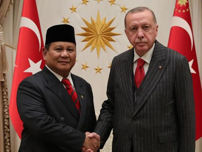 Foto: Prabowo dan Erdogan. (Presidency of The Republic Turkey)