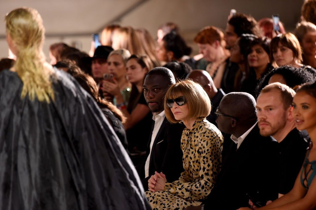 """PARIS, FRANCE - SEPTEMBER 25: Anna Wintour attends the """"Tribute to the Karl Lagerfeld: The White Shirt Project"""" exhibition as part of Paris Fashion Week in Paris on September 25, 2019. (Photo by Anthony Ghnassia/Getty Images For Karl Lagerfeld)"""