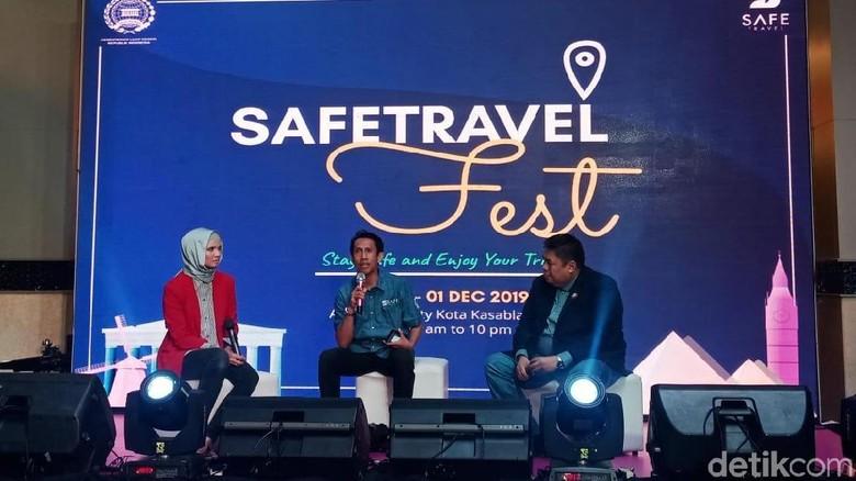 Sesi talkshow ibadah haji & umrah di Safe Travel Fest (Putu Intan/detikcom)