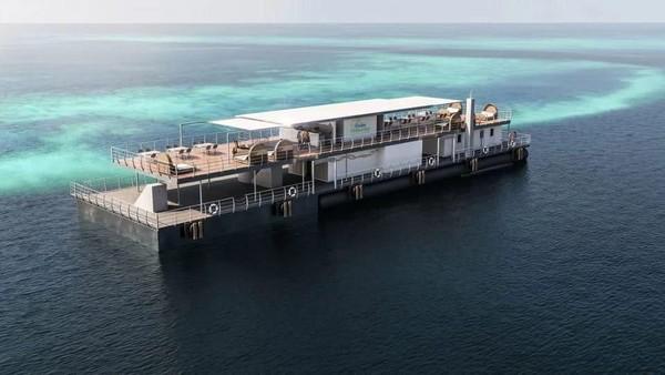 Penginapan reefsuites menawarkan pemandangan keindahan kehidupan bawah laut dan mengajak traveler melihat terumbu karang dari dekat. Reefsuites akan dibuka 1 Desember mendatang. (Reefsuites/handout)