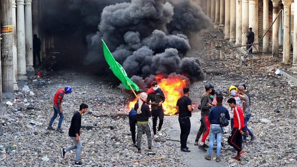 Bentrokan Kembali Pecah di Irak, 2 Demonstran Tewas dan 24 Luka-luka