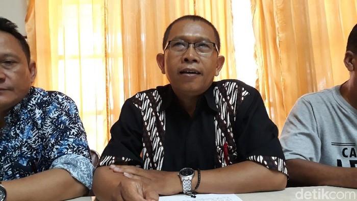 Ketua Umum Badan Pimpinan Cabang (BPC) Gapensi Kota Yogyakarta, Haryanto (tengah). Foto: Pradito Rida Pertana/detikcom