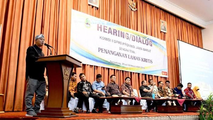 DPRD Jabar soroti penanganan 700 ribu hektare lahan kritis yang lamban. (Foto: Istimewa)