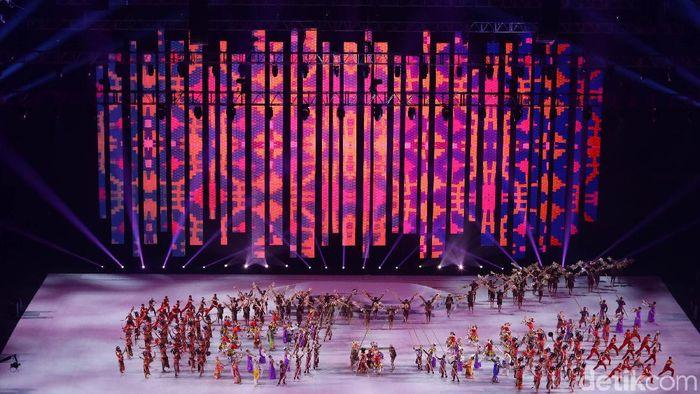 Upacara pembukaan SEA Games 2019 di Philippine Arena, Sabtu (30/11/2019).  (Grandyos Zafna/detikSport)
