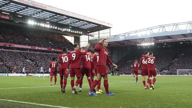 Liverpool tak terkalahkan dalam 15 laga kandang di Liga Inggris.