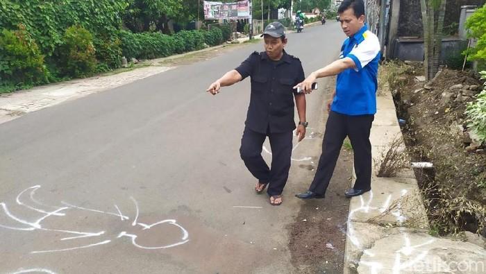 TKP Kecelakaan Mahasiswa UIN (Foto: Istimewa)