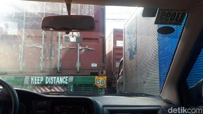 Kemacetan total di jalan utama kota Manila (Mercy Raya/detikSport)