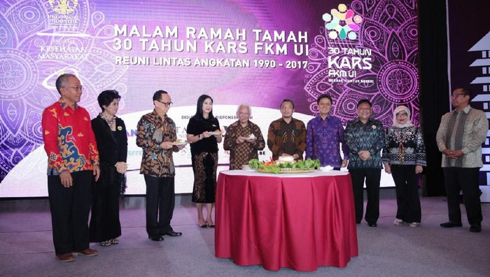 Malam ramah tamah 30 tahun KARS FKM UI reuni lintas angkatan 1990-2017 di Auditorium Menara Bank Mega, Jakarta, Sabtu (30/11/2019). (Foto: Foto: Ezra / CT ARSA Foundation)