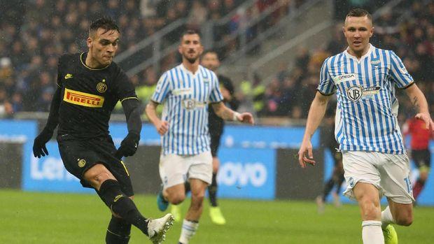 Lautaro Martinez jadi bintang kemenangan Inter Milan.
